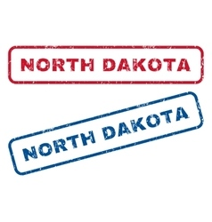 North dakota rubber stamps vector