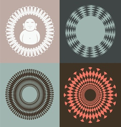 optical collection with buddah vector image vector image