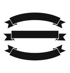 Ribbons icon simple style vector