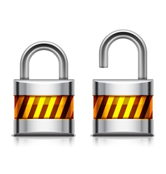 Security padlock vector image