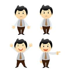 set businessman cartoon character vector image