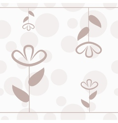 Simple floral seamless pattern with lines flower vector