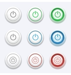 start or power button vector image