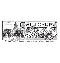 The state banner of california vintage vector