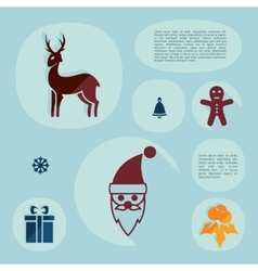 Christmas flat infographic vector