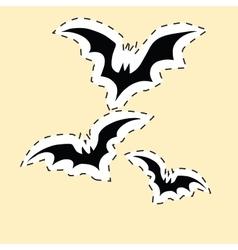 Black bats label sticker vector