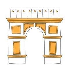 Arc de Triomphe Paris France architecture europe vector image