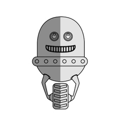 Robot character isolated icon vector