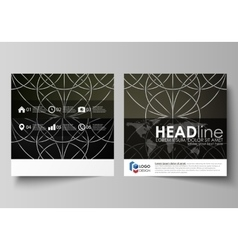 Business templates for square design brochure vector