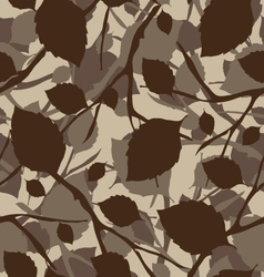 Leaves pattern background vector