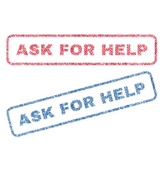 Ask for help textile stamps vector