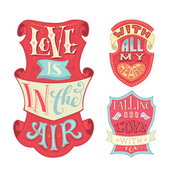 love is in the air with all my heart falling in vector image