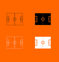 Soccer field icon vector