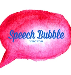 Watercolor drawn red speech bubble vector