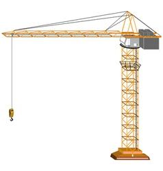 tridimensional crane vector image