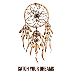 American indian dreamcatcher icon vector