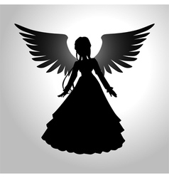 Silhouette of an angel vector