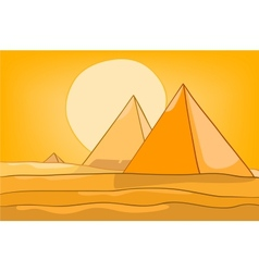 Cartoon landscape pyramid vector