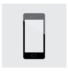 Mobile phone black isolated vector