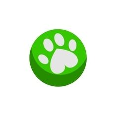 Dog ball flat vector