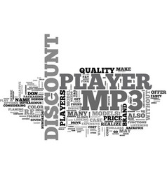 A discount mp player you bet text word cloud vector
