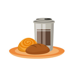 bakery goods an coffee vector image