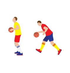 Basketball player with the ball vector image