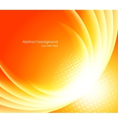 Bright orange background vector image