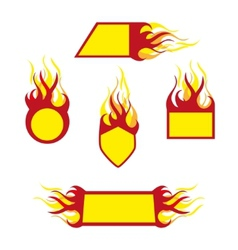 burning emblems vector image
