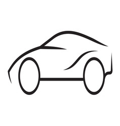 Car outline4 resize vector