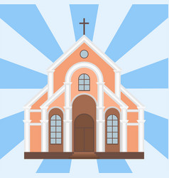 Cathedral catholic church temple traditional vector