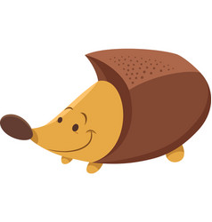 Cute hedgehog cartoon animal character vector