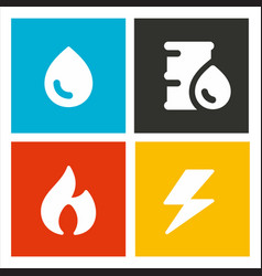 Energetic resources icons vector