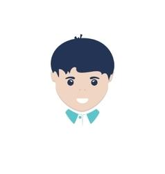 European Boy Isolated on White vector image