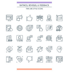 Feedbacks and ratings icon set vector