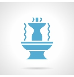 Fountain architecture glyph style icon vector