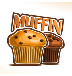Logo for muffin vector