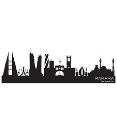 Manama bahrain skyline detailed silhouette vector