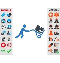 Medical shopping icon vector