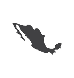 Mexico map silhouette vector image vector image