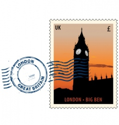 postmark from London vector image vector image
