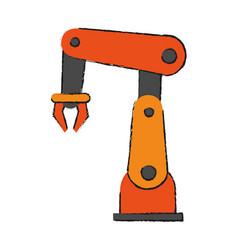 robot arm technology vector image