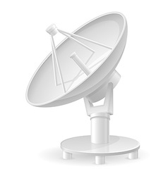 satellite dish 01 vector image vector image