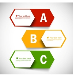 Set of banners with alphabet vector image