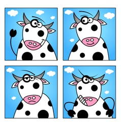Set of funny animals cartoon character vector