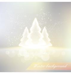 Shiny winter background vector