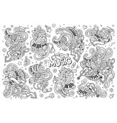 Sketchy hand drawn doodles cartoon set of vector