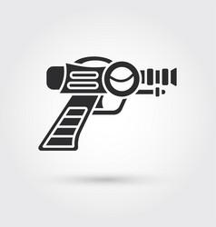 Space laser ray gun gun toy icon vector