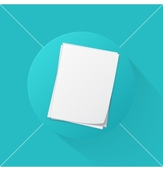stack of papers icon vector image vector image