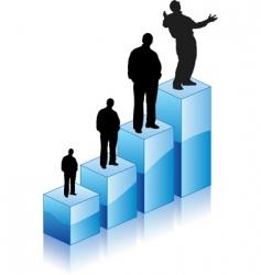 success graphic man vector image